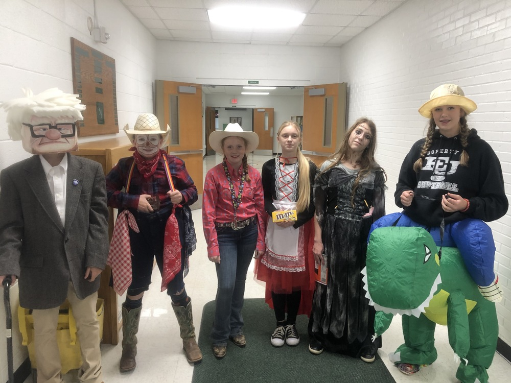 6th-8th Halloween Costume Contest Winners